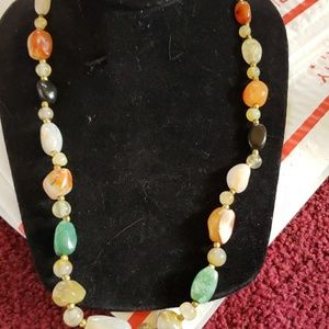 Jewelry - Vintage multi semi precious stone necklace